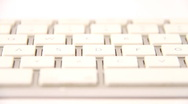 Keyboard Isolated on White DOLLY right 01 Stock Footage