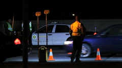 DUI Checkpoint 01 - stock footage