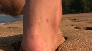 Stock Video Footage of Feet in the sand closeup