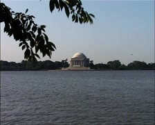 Jefferson Memorial and Tidal Basin, Washington, DC GFSD Stock Footage