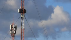Cell phone towers  Stock Footage