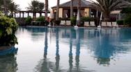 Luxury Hotel Pool  Stock Footage