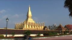 Pha That Luang, Great stupa Stock Footage