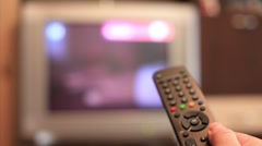 Switching TV channels Stock Footage