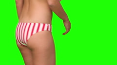 Perfect young woman bottom Stock Footage