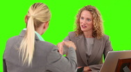 Blond women having a meeting Stock Footage