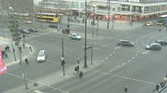 street in berlin timelapse - stock footage