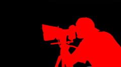 cameraman hdslr - stock footage