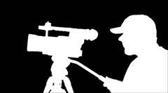 Cameraman silhouette Stock Footage