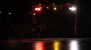 Ice hockey players entering the arena Stock Footage