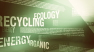Environment/Green Related Words Background Loop HD Stock Footage