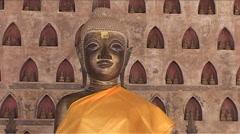 Wat Si Saket temple, buddha Stock Footage