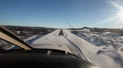 Landing a small plane - stock footage