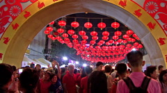 Stock Video Footage of Entrance To Chinese New Years Celebrations