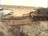 Stock Video Footage of Sunken tank KV-1 was pulled from the river