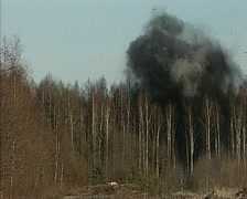 explosion at the landfill - stock footage