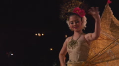 Thailand: Traditional dance sequence Stock Footage