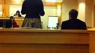 Courtroom defendants Stock Footage