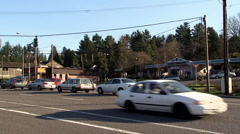 Intersection Hillsdale Portland Oregon Pacific Northwest Stock Footage