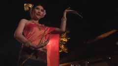 Thailand: Dancer performs nail dance Stock Footage