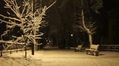 Night walk Stock Footage