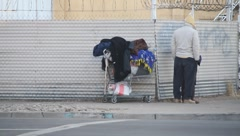 Homeless People in Ghetto - stock footage
