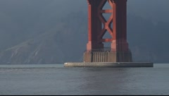 SF Golden Gate Bridge Footing MVI 3957 - stock footage
