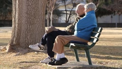 Retired Couple on Sunny Day Stock Footage