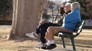 Stock Video Footage of Older Couple in Park