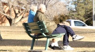 Stock Video Footage of Senior Citizens in Park