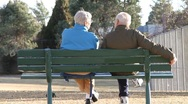 Stock Video Footage of Retired Couple in Park