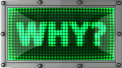 why announcement on the LED display - stock footage