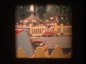 Family on The Whip carnival ride 1964 Stock Footage