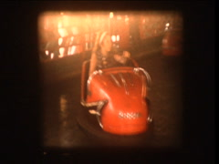 Bumper cars 1964 carnival Stock Footage