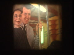 1964 Merry go round at carnival Stock Footage