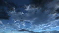Flying clouds - stock footage