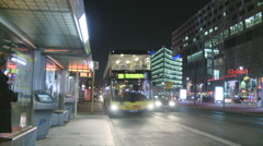 Bus leaving station  Stock Footage