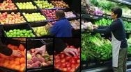 Produce Market Composite Stock Footage