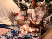 Stock Video Footage of 4th of July, 1962, handing out flags
