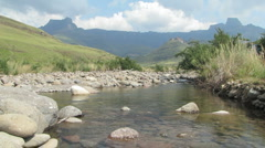 Amphitheatre at Drakensberg Stock Footage