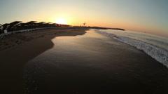 Stock Video Footage of sea sunrise