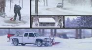 Winter Snow Composite Stock Footage