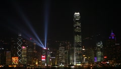 Hong Kong Symphony of Lights Stock Footage