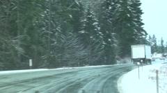 Winter Driving Van.Isle..m2ts - stock footage