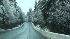 Winter Driving Van.Isle. .m2ts Stock Footage