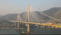 Ting Kau Bridge, Hong Kong Stock Footage
