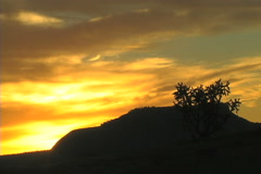 La Liendra, New Mexico, sunrise taken September 14, 2010 Stock Footage