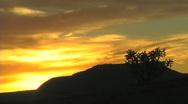 La Liendra, New Mexico, sunrise taken September 14, 2010 Stock Footage