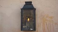 Gaslight in Santa Fe, New Mexico Stock Footage