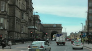 Stock Video Footage of Neville Street, Newcastle towards Central Station.